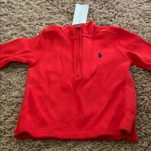 Red polo sweater for toddlers